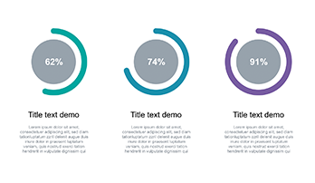 Circle diagram free Keynote template 2