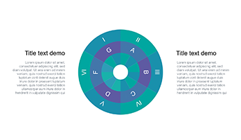 Circle diagram free Keynote template 5