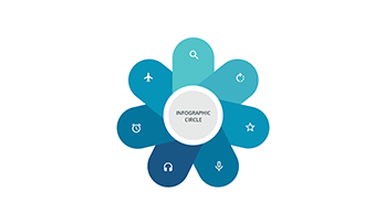 Circle infographic Keynote template 7 petal