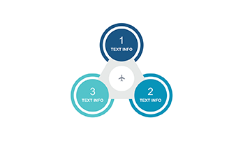 Circle infographic key template 3 step