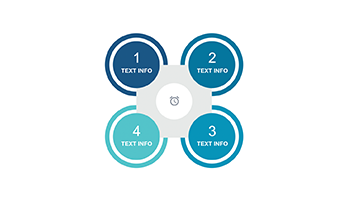 Circle infographic PPT 4 step