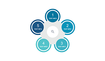 Circle infographic PPT 5 step