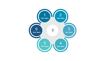 Circle infographic PPT 6 step