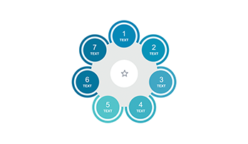 Circle infographic PPT 7 step