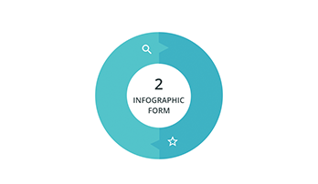 Circular infographic 2 step ppt