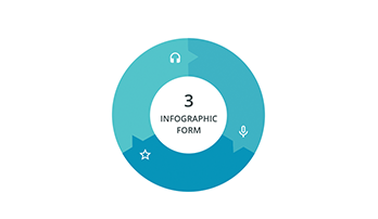 Circular infographic 3 step ppt