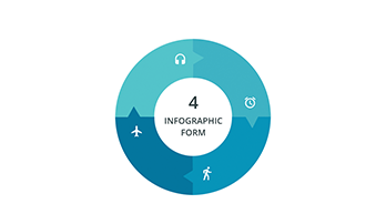 Circular infographic 4 step ppt