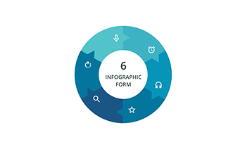 Circular infographic 6 step ppt