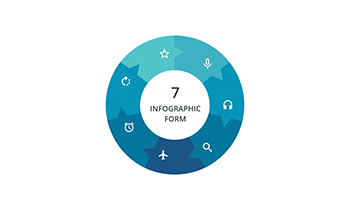 Circular infographic 7 step ppt