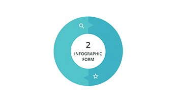 Circular infographic key template 1