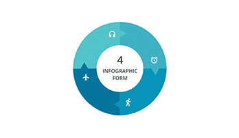 Circular infographic key template 3