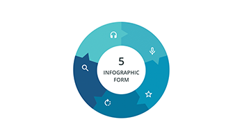 Circular infographic key template 4