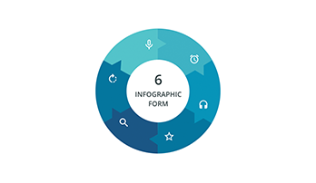 Circular infographic key template 5