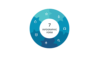 Circular infographic key template 6