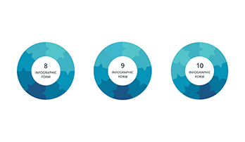Circular infographic key template 7