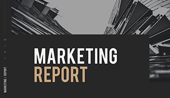 Marketing Report free PowerPoint