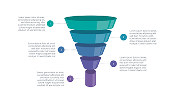 Funnel diagram PPT type 2