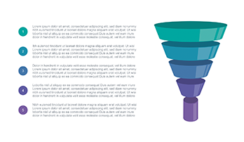 Funnel diagram free Keynote template
