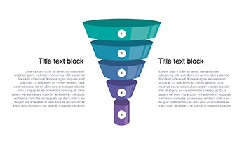 Funnel diagram free Keynote template 3