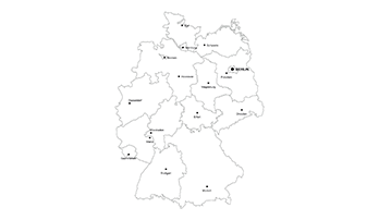 Federal Republic of Germany PPT map