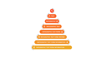 Marketing pyramid key template 8 step