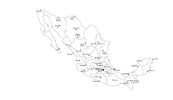 Mexico PowerPoint map - city