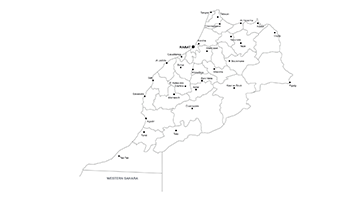 Morocco ppt map