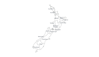 New Zealand ppt map
