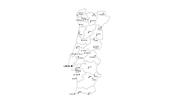 Portugal ppt map - city