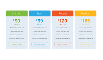 Pricing Tables PPT type 2