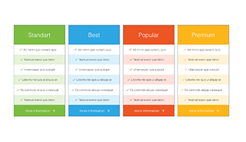 Pricing Tables PPT type 4