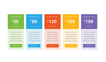 Pricing Tables Keynote template 5