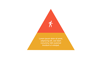 Pyramid with segments PowerPoint