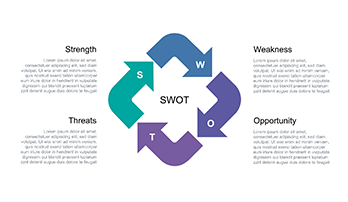 SWOT analysis free Keynote template 2