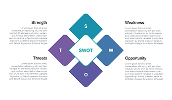 SWOT analysis free Keynote template 3