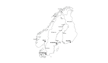 Scandinavia map PPT - city
