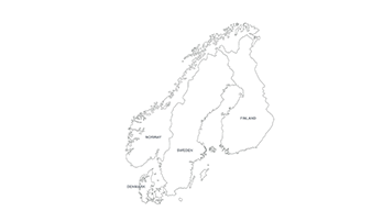 Scandinavia map PPT
