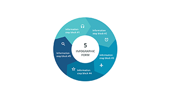 5 Segments infographic ppt