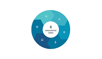 6 Segments infographic Keynote template