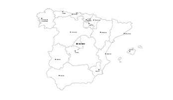 Spain PowerPoint map - city
