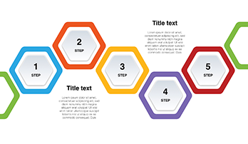 Step by step hexagon PPT