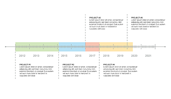 Timeline plan PPT type 3