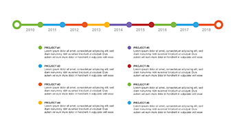 Timeline plan PPT type 4