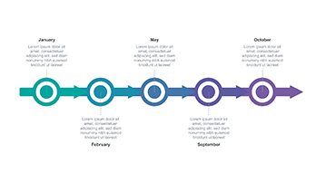 Timeline Arrow free Keynote template 3