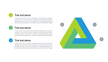 Triangle free Keynote template 3 step