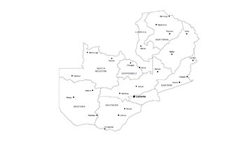 Zambia ppt map