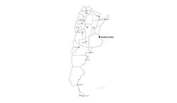 Argentine Republic ppt map