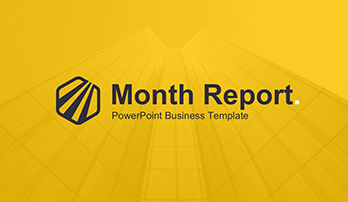 Month report free PowerPoint template