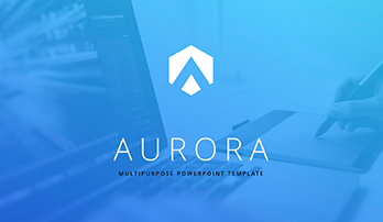 """Aurora"" free ppt template (blue)"