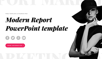 """Modern Report"" free ppt template"